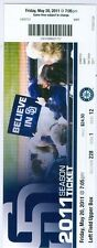 2011 Padres vs Mariners Ticket: Erik Bedard win/Miguel Olivo homered