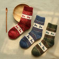 1 Paar Damen Schnee flocke Wollsocken-Socken Schafwollsocken Kuschelsocken Warm!