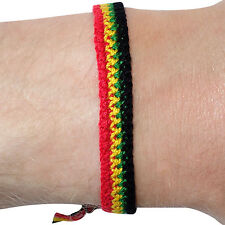 Rasta Wristband Reggae Bracelet Bangle Mens Womens Boys Girls Kids Childrens
