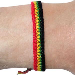 Rasta Wristband Reggae Bracelet Bangle Mens Womens Boys Girls Kids Childrens