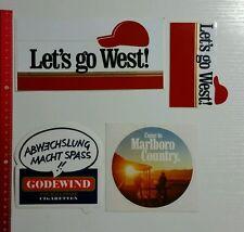 Aufkleber/Sticker: Tabak Tobacco Zigaretten Konvolut - West Marlboro (10101659)
