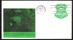 a028 RAUMFAHRT/ USA Space Simulationstest Spacelab Beleg aus 1977