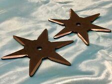Ninja item, 2 hexagonal shurikens,  metal and Made in Japan!!