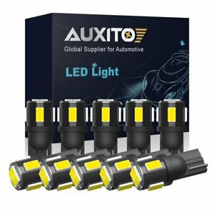 10X AUXITO LED Interior License Plate Map Dome Light Bulb T10 2825 168 194 6000K