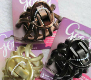 Goody Large Claw Clip Hair Jaw Spider Sea Shell Blonde Brunette Color Collection