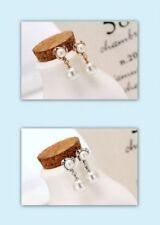 Mode-Ohrschmuck mit Herz-Perlen-Butterfly-Verschluss
