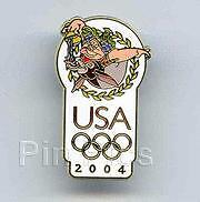 Disney USA Olympic Logo Bacchus Pin