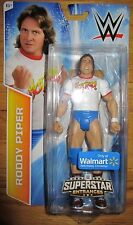WWE RODDY PIPER FIGURE SUPERSTAR ENTRANCES TSHIRT  WALMART EXCLUSIVE WWF HOT ROD