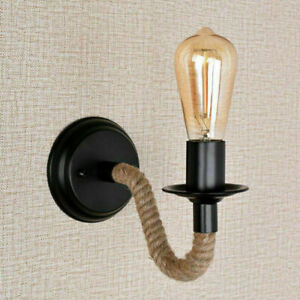 Vintage Industrial Hemp Rope Pipe Wall Sconce Wall Lamp Bar/Porch Lights Fixture