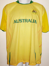 Australia Soccer Jersey T-Shirt Yellow L Large Football