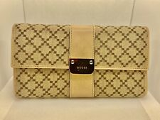 Gucci Long Wallet For Women. Authentic. Rose Gold/Canvas.
