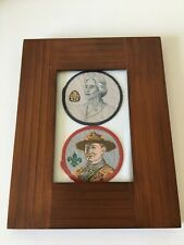 More details for framed portrait patches of robert and olave baden powell