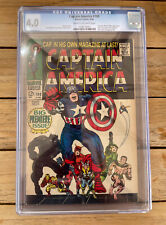 Captain America #100 1968 1st Silver Age Titled Series CGC 4.0