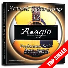 3 Packs Adagio Pro Acoustic Guitar Strings (010 011 012) Phosphor Bronze Sets Gauge 12