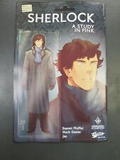 SHERLOCK A STUDY IN PINK 1 FORBIDDEN PLANET JETPACK VARIANT BBC Titan 1st Print