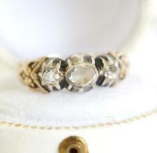 Barock Ring des 18.Jahrhunderts aus 14ct Gelbgold + Silber mit Diamanten A3093