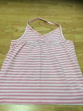 Next Girls Size 16 Years Pink & White Striped Halterneck Vest Top - Brand New