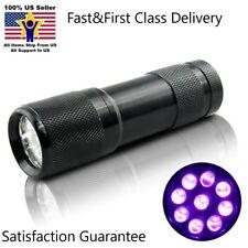 HDE LED 395nm UV Ultra Violet Flashlight Blacklight Light Torch Lamp US Seller
