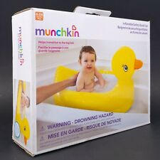 Munchkin Inflatable Saftey Duck Tub 6 - 24 Months White Hot Transition Bath NEW