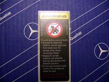 Genuine Mercedes Door Airbag Sticker W210 E55 C280 S430 CLK55 CLK430 NEW!