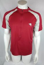 Endura Mens Cycling Jersey Red 1/2 zip Size Large