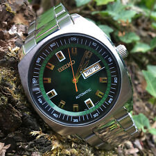 Seiko Recraft Series Automatic Mens Retro Style Green Dial Wrist Watch SNKM97