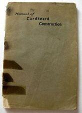1902 Los Angeles Public School Book Manual of Cardboard Construction