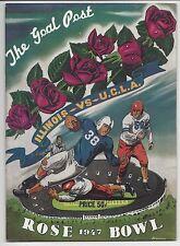 1947 Rose Bowl Football program Illinois Fightin' Illini vs. UCLA Bruins  EXMT