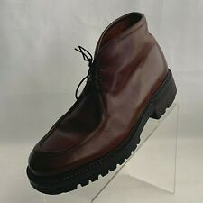 Banana Republic Chukka Ankle Boots Apron Toe Brown Leather Lug Sole Size 9.5D