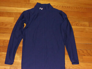 UNDER ARMOUR COLDGEAR LONG SLEEVE MOCK COMPRESSION JERSEY MENS LARGE EXCELLENT