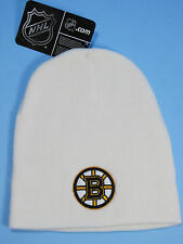 Boston Bruins Knit Winter Hat NHL Licensed Hat Bruins Hockey Apparel White NWT