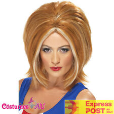 Spice Girls Ginger Bob Power Ladies Wig Blonde 90s Pop Star Costume Accessories