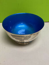 very nice Towle Sterling footed bowl blue enamel 4x7 1960 Whippoorwill Golf Club