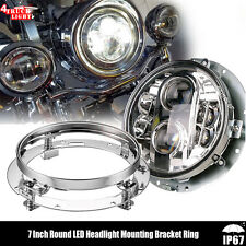 1X Round 7'' Motorcycle Mounting Bracket for Harley Davidson LED 7INCH Headlight