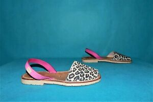 Sandals Minorquines CASTELL Leather White Pink Black P 38 Fr