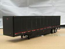dcp black/black tandem axle van trailer new no box 1/64.