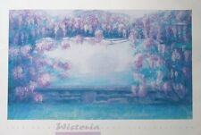 Jack Prince print - Wisteria poster,  60x91cms. 90's floral posters