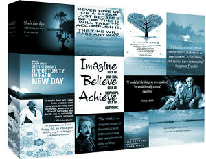 Motivation Quotes Duck Egg Blue Canvas Wall Art  Picture 100% cotton - All sizes