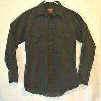 Rustler X Long Tails Western L/S Shirt Mens 16 34/35 Cowboy Pearl Snap Black