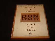 Don Henley of The Eagles 1991 congrats ad The End Of The Innocence, 3x platinum