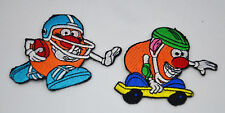 MR POTATO HEAD FOOTBALL SKATE 2.5' TOY STORY Iron or Sew On Cloth Patch Applique