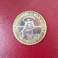 2 two pounds commemorative coin £2 First World War Centenary rare 2014