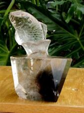 Quartz Crystal Carving - Solid Quartz Crystal w/Rutiles  - Fish out of Water