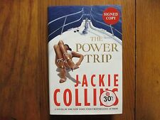 "JACKIE  COLLINS(Died in 2015)Signed Book(""THE POWER TRIP""-2013 1st Edit Hardback"