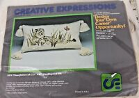 CREATIVE EXPRESSIONS Crossstitch Embroidery Crewel Kit 3828 Cub Tiger (K3)