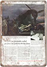 """1943 - Eastman Kodak Matte Transfer Color Film - 10"""" x 7"""" Retro Look Metal Sign"""