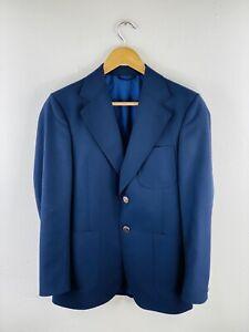 Stafford Ellinson Men's Blazer Sportscoat Jacket Size 38 Blue Button Up Collared