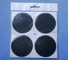 (70C) 4x Carbon Lock Embleme für Nabenkappen Felgendeckel 70mm Silikon Aufkleber