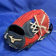 """Mizuno Global Elite GGE43 (11.25"""") Baseball Glove (Navy/Red)"""
