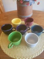 Fiesta Beautifully-Colored 6 oz. Coffee/Expresso Cups by Homer Laughlin